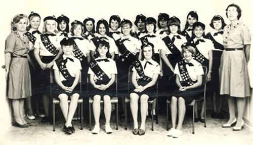 Dhahran Girl Scouts from the Early 1960s
