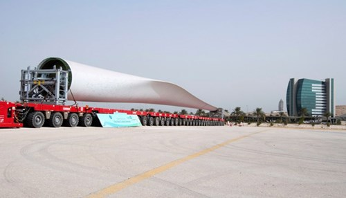 Saudi Aramco Delivers the First Wind Turbine