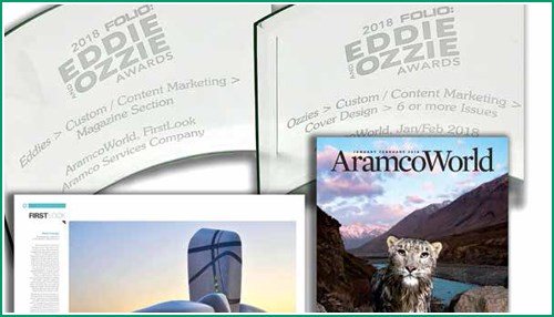 AramcoWorld Team Wins 13 Awards at 2018 Folio: Eddie and Ozzie Awards
