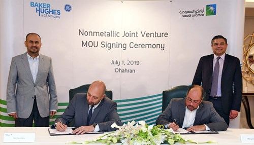 Saudi Aramco and Baker Hughes Sign MOU for Non-metallic Materials Production Facility in Saudi Arabia