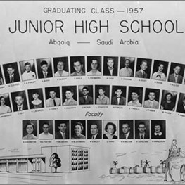 1957 Abqaiq Junior High Graduating Class