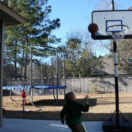 The Stevens Play Hoops with Grandkids in Louisiana