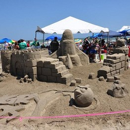 Sand Sculptures on Galveston Beach